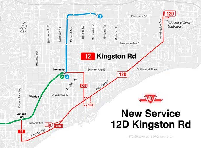 August2018 Kingston Rd Bus Route